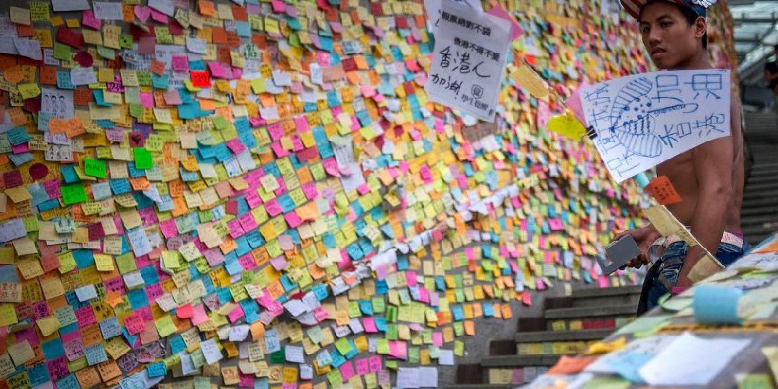 Mensajes de apoyo a los manifestantes Foto:Getty Images