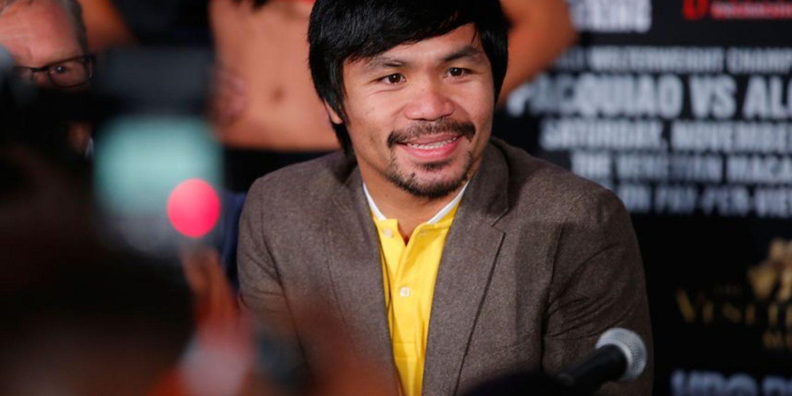 Tras perder en varias ocasiones, Pacquiao finalmente obtuvo un escaño en el Parlamento de Filipinas en 2010. Foto:Getty Images