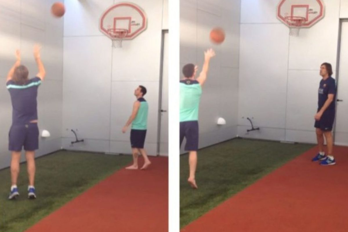 Leo también gusta de jugar básquetbol Foto:Instagram: @leomessi