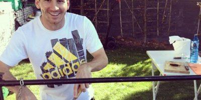 Como buen argentino, le agradan los asados Foto:Facebook: Leo Messi