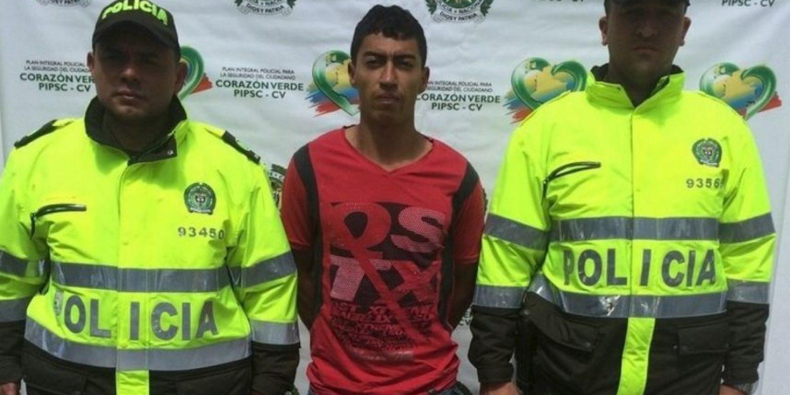 Cristian León Henao mató a su hija de dos años solo porque se creía Dios. Foto:Policía de San Vicente Ferrer