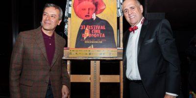Pedro Ruiz, creador de la imagenoficial 31 Edición Festival de Cine de Bogotá y Alfredo de la Fe, el violinista de la salsa                 Foto:Cortesía Festival de Cine de Bogotá