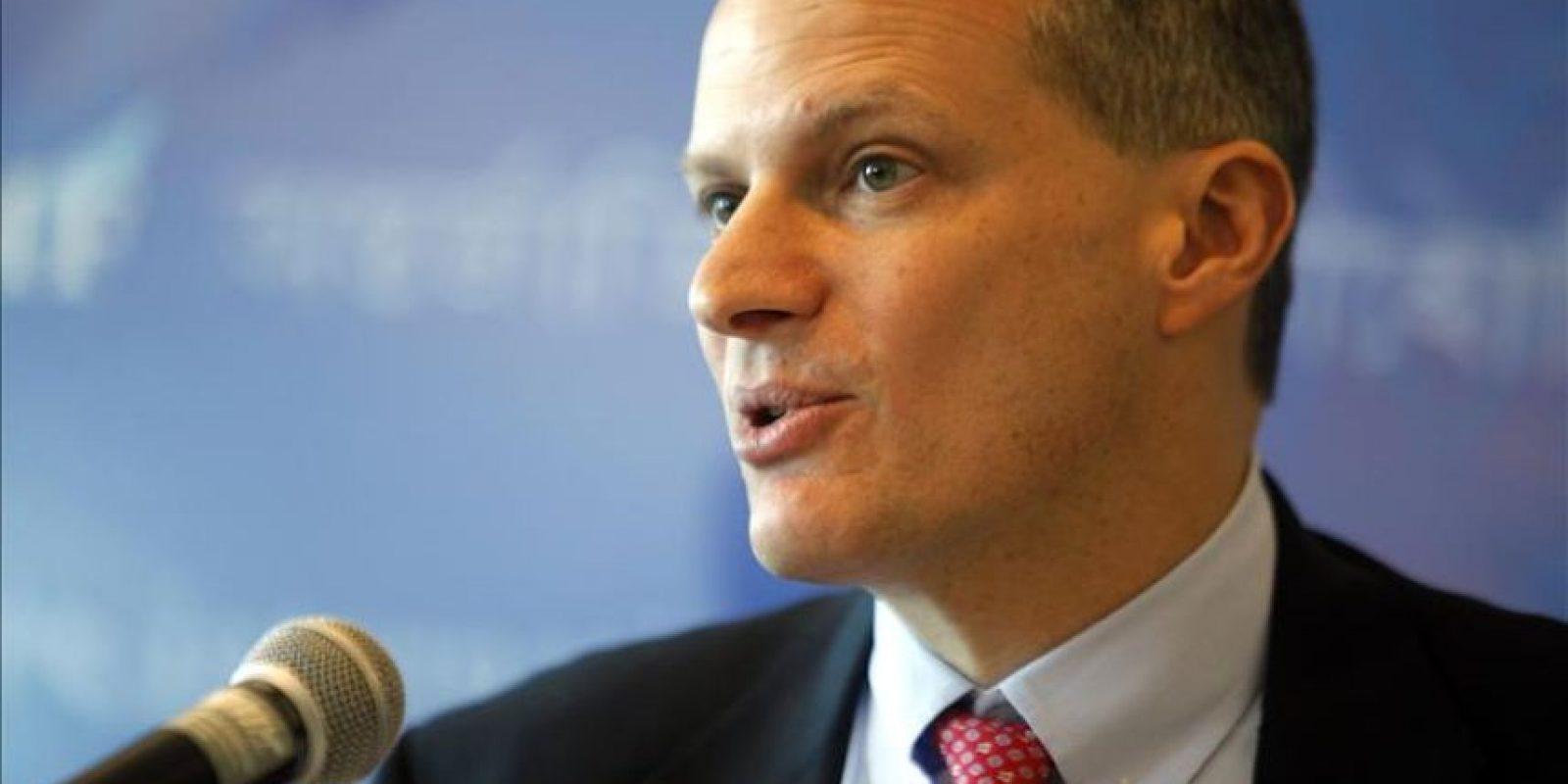 En la imagen, el director para el Hemisferio Occidental del Fondo Monetario Internacional (FMI), Alejandro Werner. EFE/Archivo
