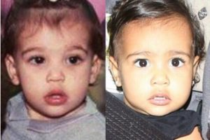 La socialité compartió una foto donde demuestra que su hija es identica a ella. Foto:Instagram/Kim Kardashian