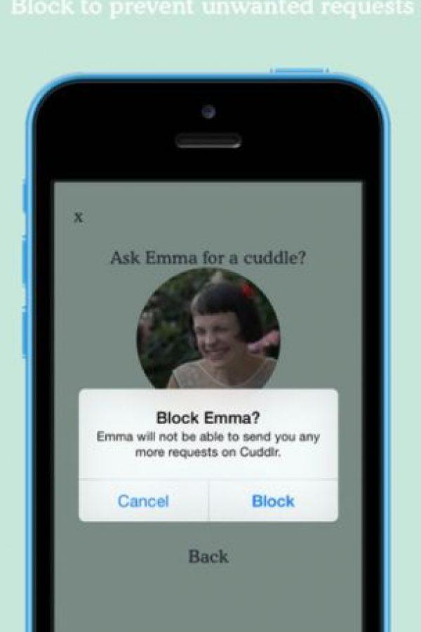 Si no les agradó el encuentro, pueden bloquear al usuario. Foto:Cuddlr App