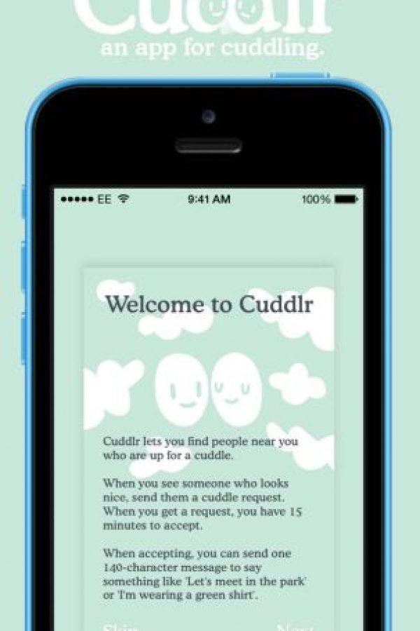 Les dan la bienvenida a la app cuando entran por primera ocasión. Foto:Cuddlr App