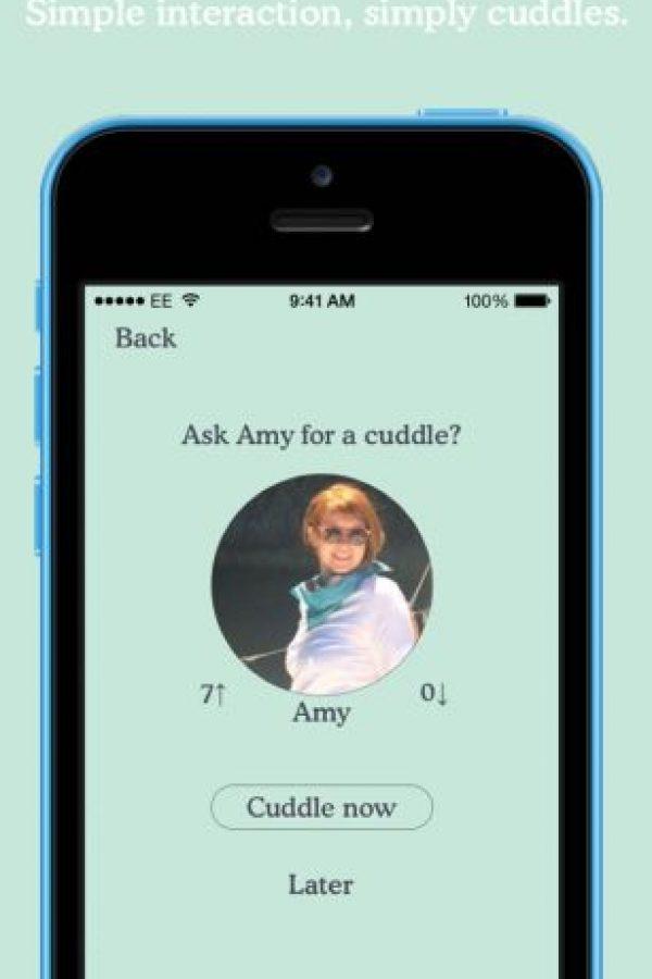 En el caso de la interacción, es sencilla. Foto:Cuddlr App
