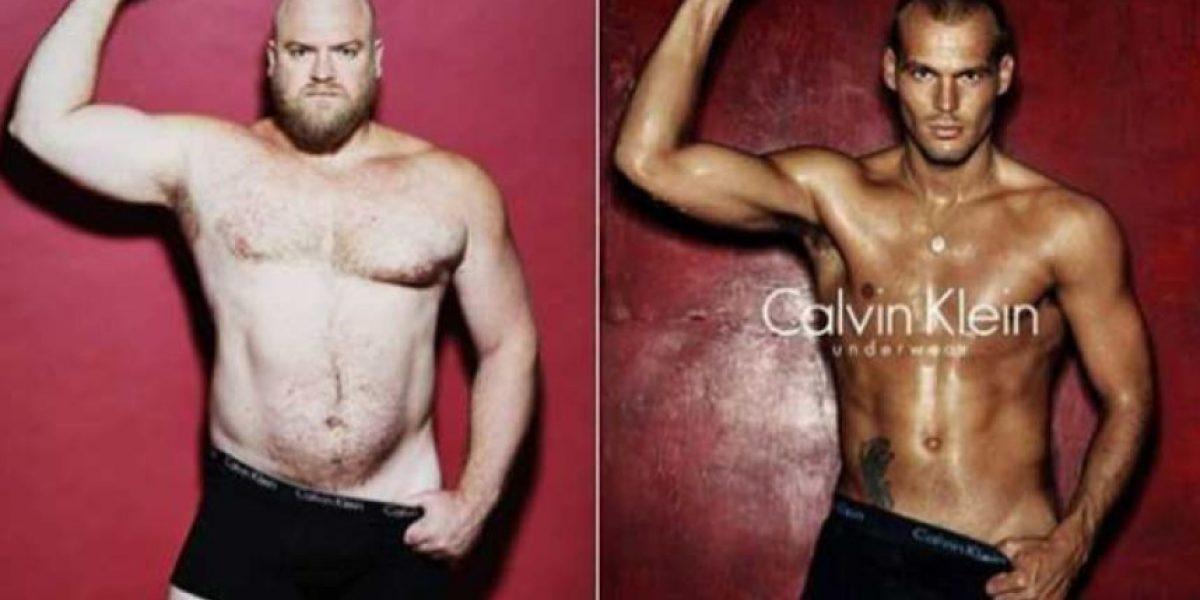 Fotos: Así lucirían las campañas publicitarias con hombres sin photoshop