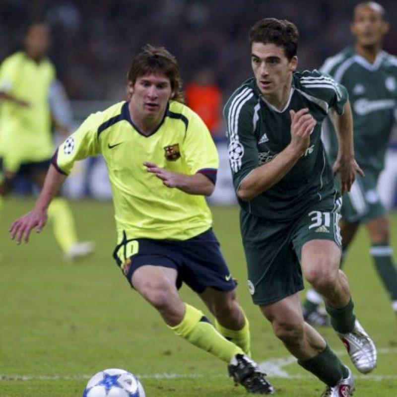 Lionel Messi en su primera temporada con el primer equipo del Barcelona en 2005 Foto:Getty