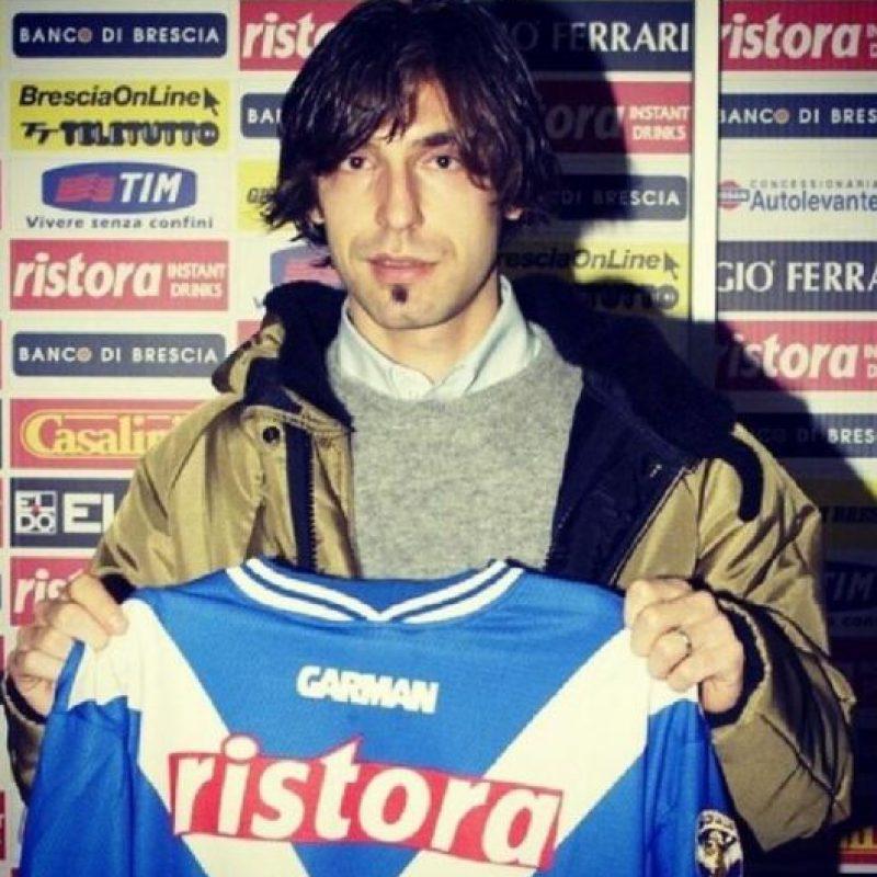 Andrea Pirlo en su primer equipo, el Brescia Calcio Foto:Getty