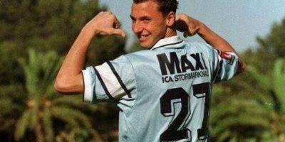 Así lucía Zlatan cuando militaba en el Malmö en 1999 Foto:Getty