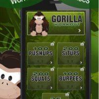 Gorilla Workout es una aplicación para aquellos que quieren bajar de peso pero no tienen el tiempo o el dinero para ir al gimnasio. Foto:Captura de pantalla