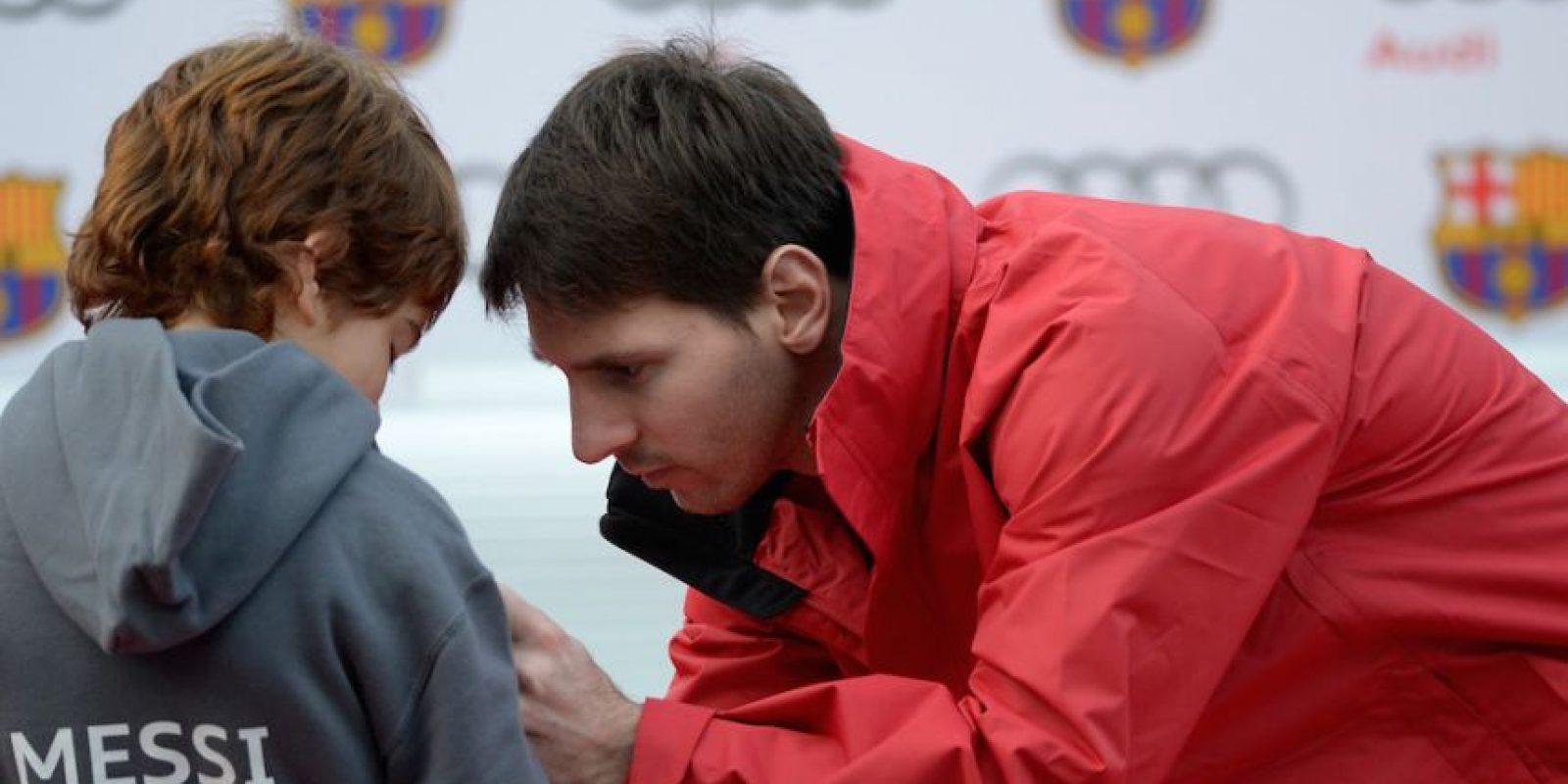 Los niños lo admiran. Foto:Getty Images