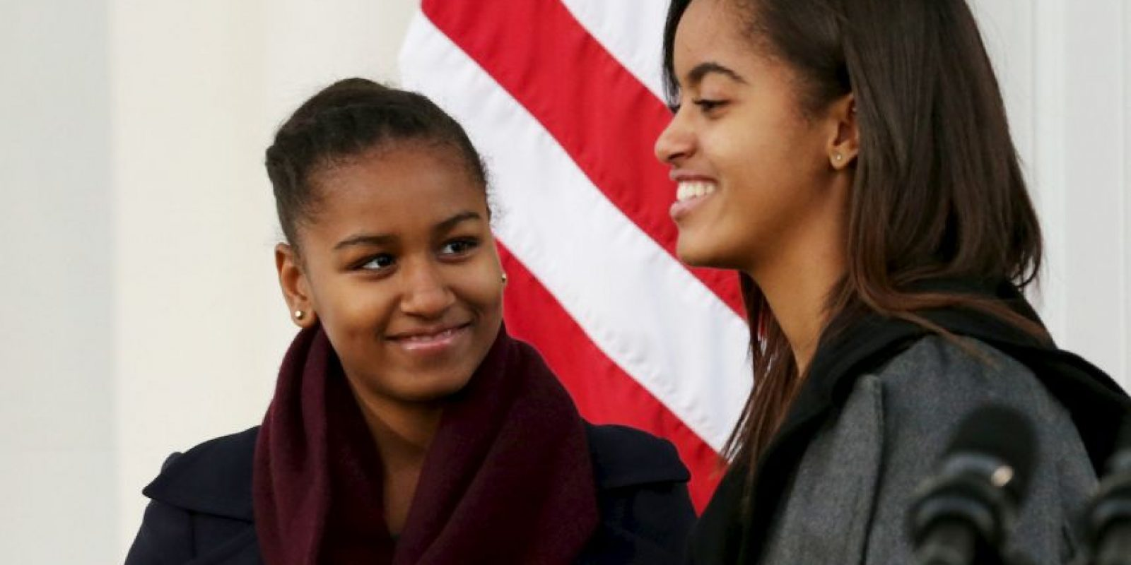 2. Sasha y Malia Obama- Las hijas del presidente de Estados Unidos, Barack Obama tienen 13 y 17 años respectivamente. Foto:Getty