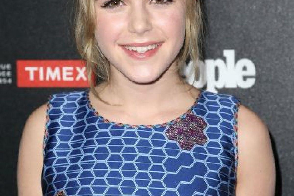 3. Kiernan Shipka- La joven de 14 años ya tiene una amplia carrera como actriz y es conocida por su participación en la serie Mad Men. Foto:Getty
