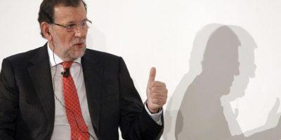 El presidente del Gobierno, Mariano Rajoy, durante su intervención en la cumbre organizada por el Financial Times, en la que políticos, empresarios y académicos analizan la situación de España y las estrategias necesarias para estimular el crecimiento de la economía española en el futuro. EFE