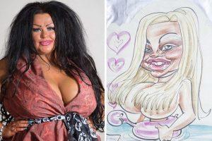 Ella ama tanto las caricaturas, que de seguro perdió la cabeza al invertir tanto dinero para quedar así