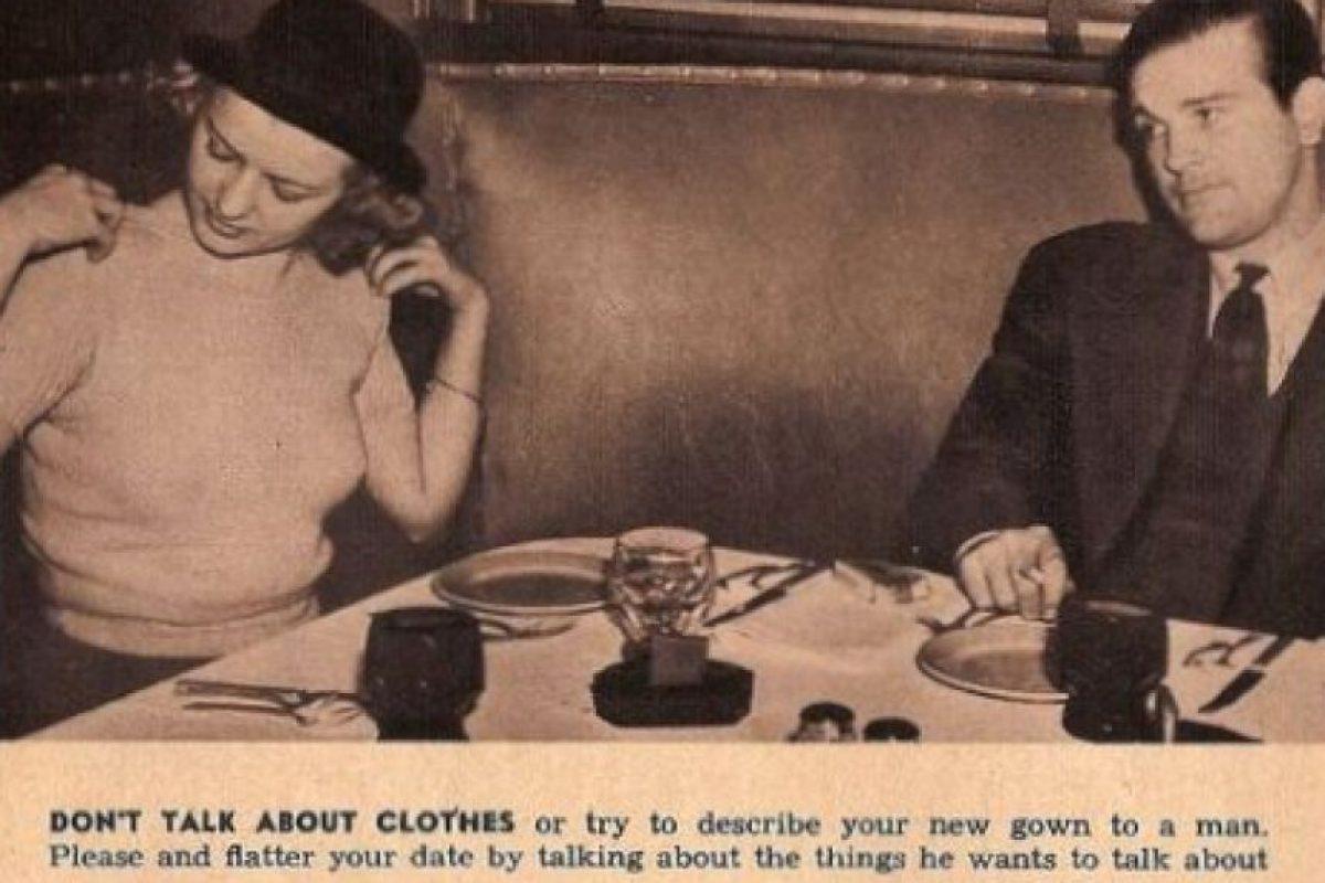 """No hables de tu ropa. Debes conversar de lo que a él le interese"" Foto:Click Photo Parade"
