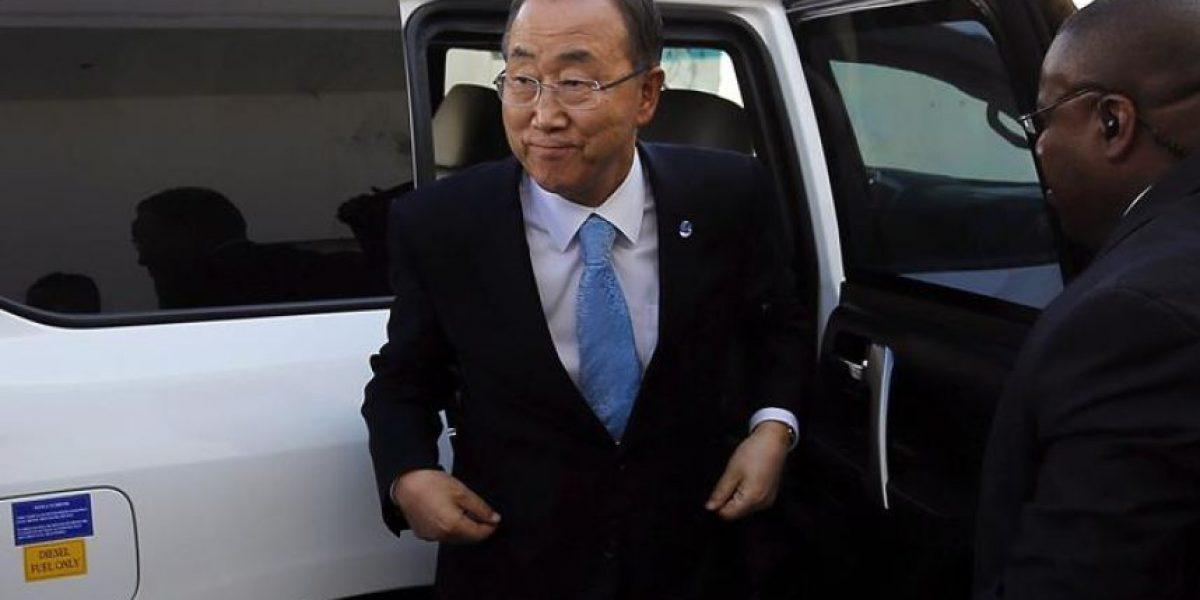 Ban Ki-moon llega a Gaza junto al primer material para reconstruir la franja