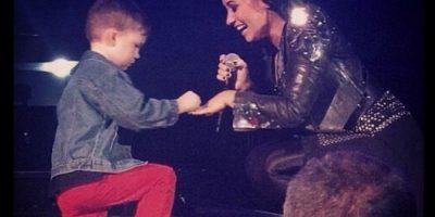 En su última presentación en Moline Illinois, Demi Lovato se comprometió con un niño llamado Grant Foto:Instagram/Demi Lovato
