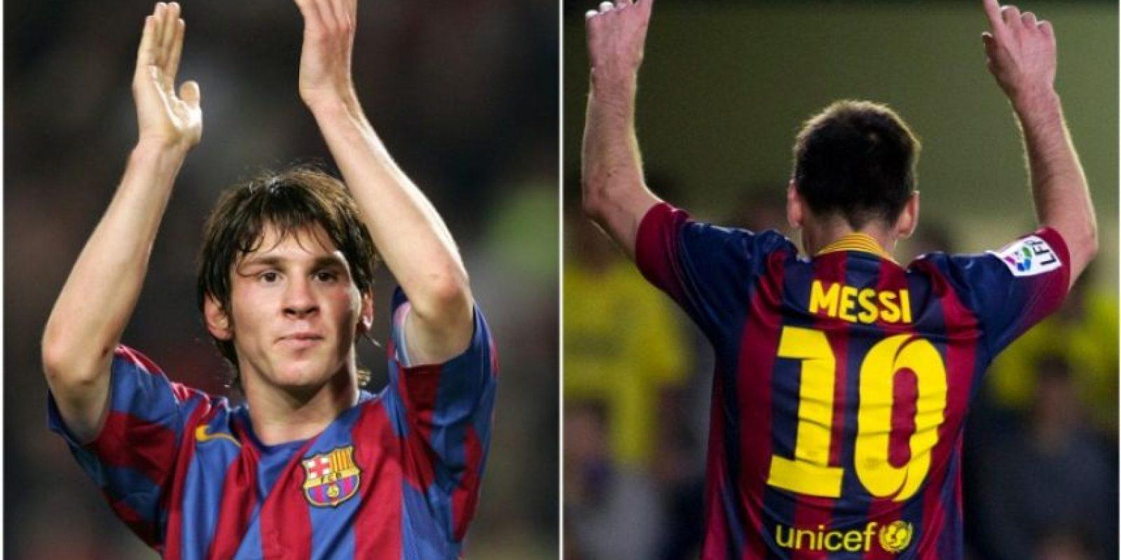 Lionel Messi cumple 10 años en el primer equipo del Barcelona. Foto:AFP