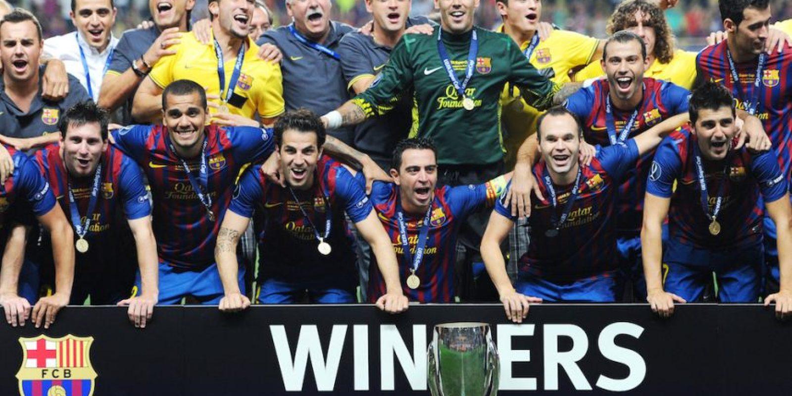 En 2011 de igual forma consiguió la Supercopa de la UEFA. Foto:Getty Images