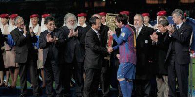 Messi fue reconocido como el Mejor jugador del Mundial de Clubes 2011. Foto:Getty Images