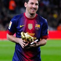 Messi ganó su segunda Bota de Oro en 2012. Foto: Getty Images