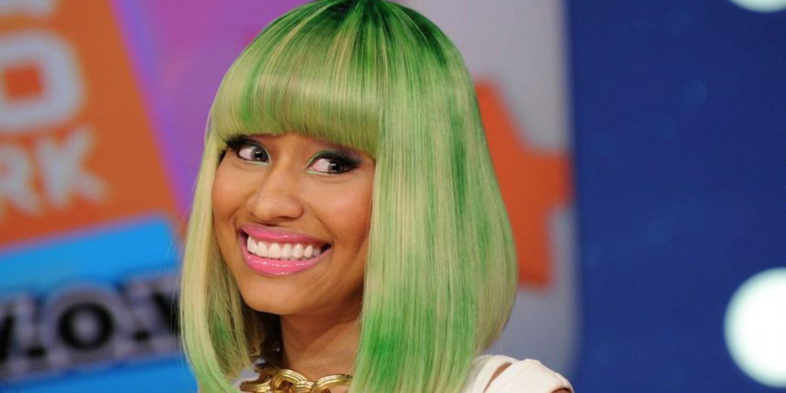 La rapera ha sido criticada por sus pelucas de colores extravagantes. Foto:Getty Images