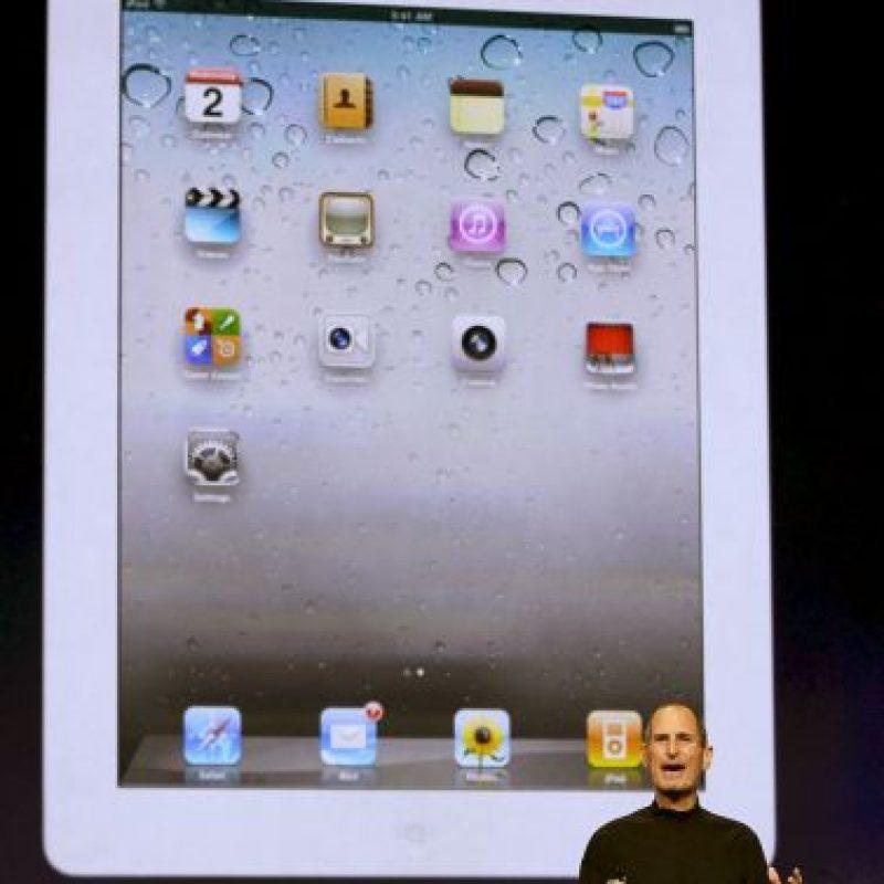 Jobs en el anuncio del iPad 2 Foto:Getty