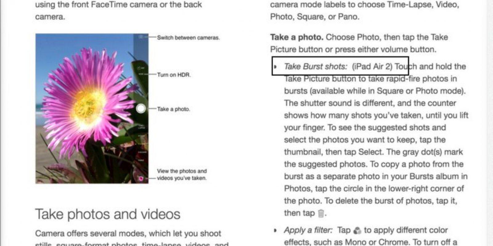 Se habló también de las funcionalidades de la cámara Foto:9to5Mac