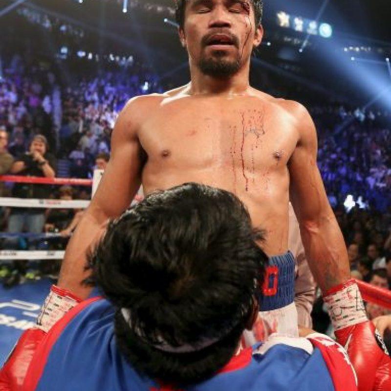 Manny Pacquiao ganó el combate ante Bradley. Foto:Getty Images