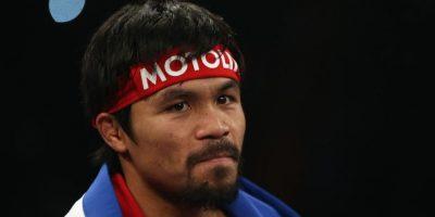 El boxeador filipino Manny Pacquiao, el 12 de abril de 2014, antes de pelear contra el estadounidense Timothy Bradley. Foto:Getty Images