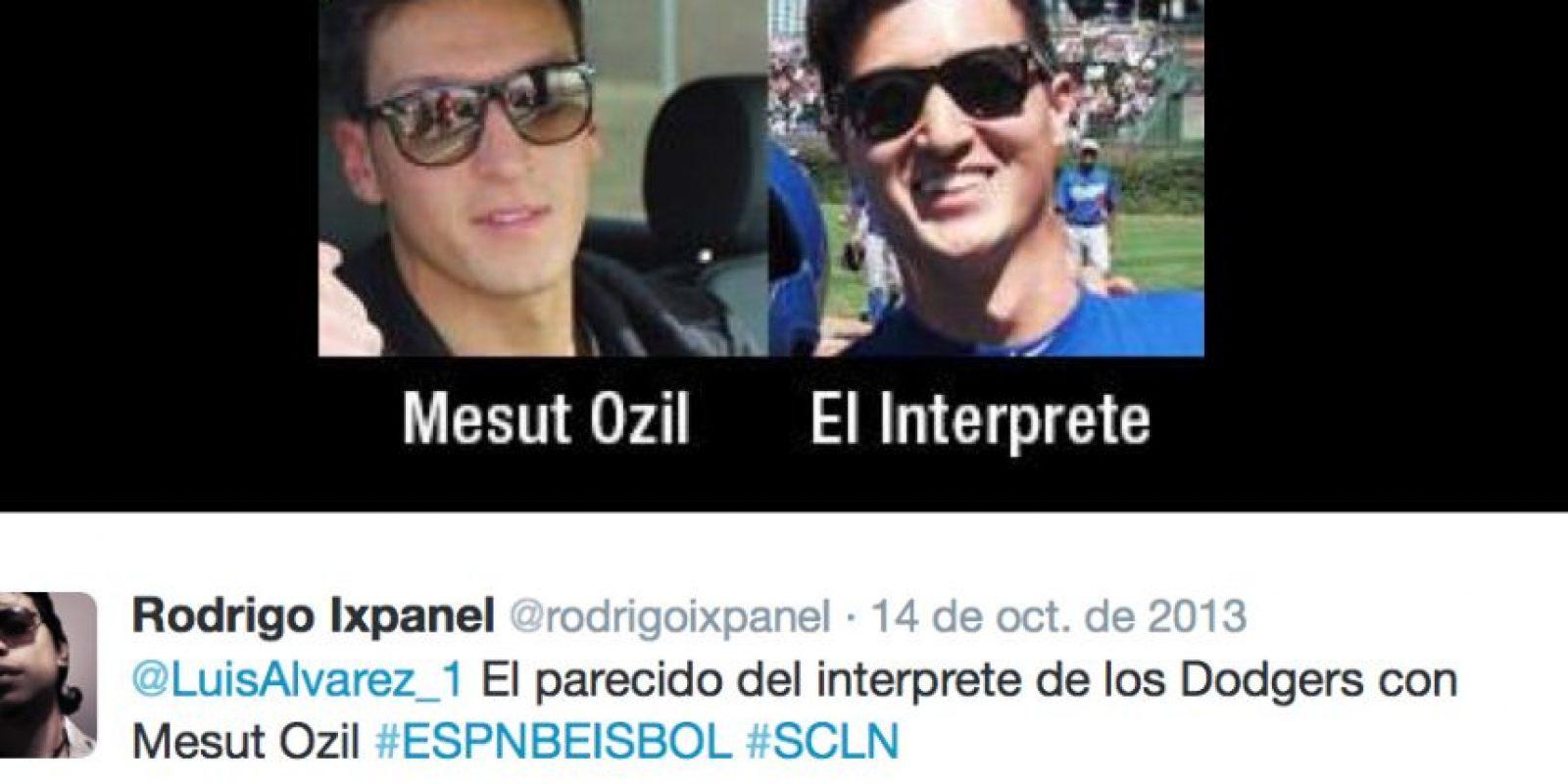 En las redes aseguran que es idéntico al intérprete de los Dodgers de las Grandes Ligas Foto:Twitter