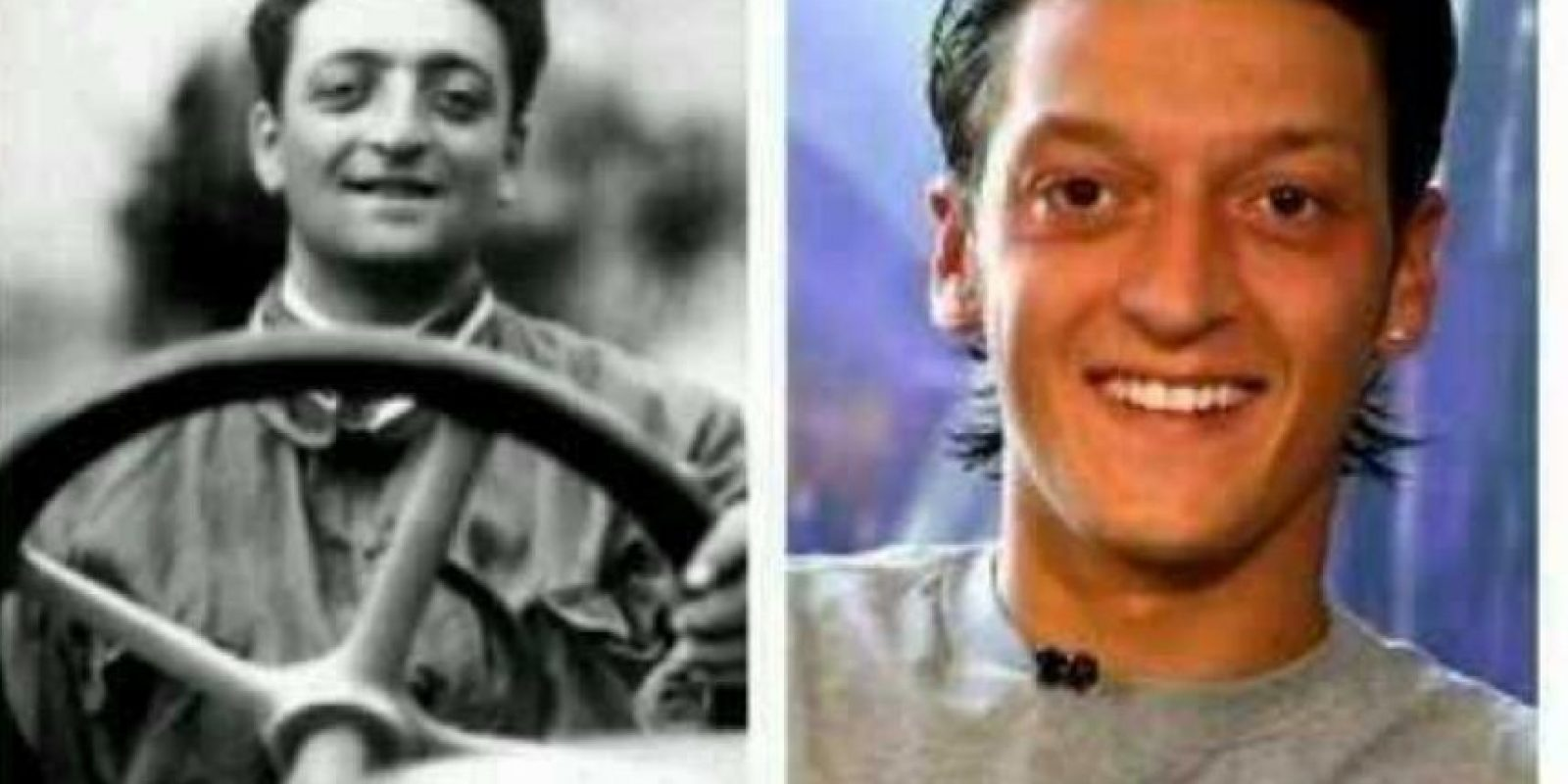 Su parecido con el fundador de la escudería del Cavallino Rampante, Enzo Ferrari, es increíble Foto:Twitter