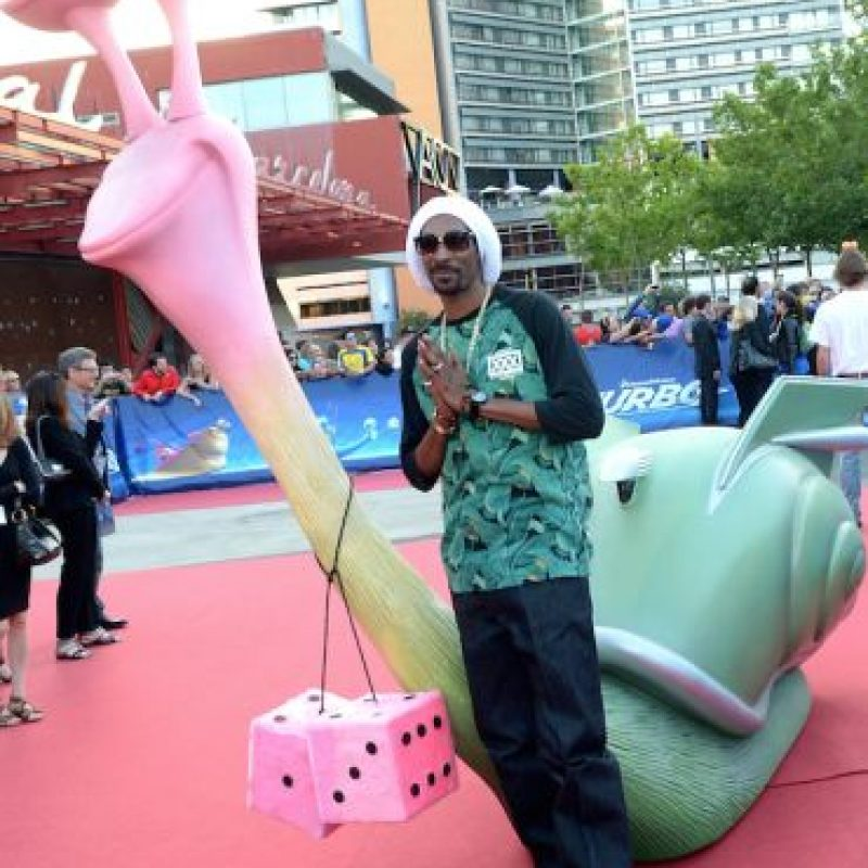 "Snoop Dogg en la premier del filme ""Turbo"" Foto: Getty Images"