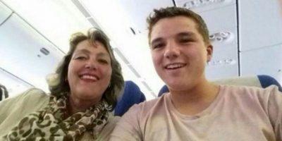 Gary Slok y Petra, su madre, viajaban a bordo del avión MH17, de Malaysia Airlines Foto:Twitter