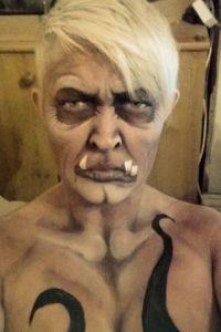 Shelley también sabe envejecer su rostro. Foto:Facebook/The Painting Lady