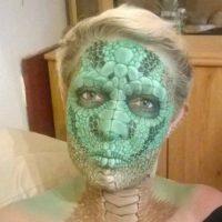 Una extraña especie de reptil Foto:Facebook/The Painting Lady