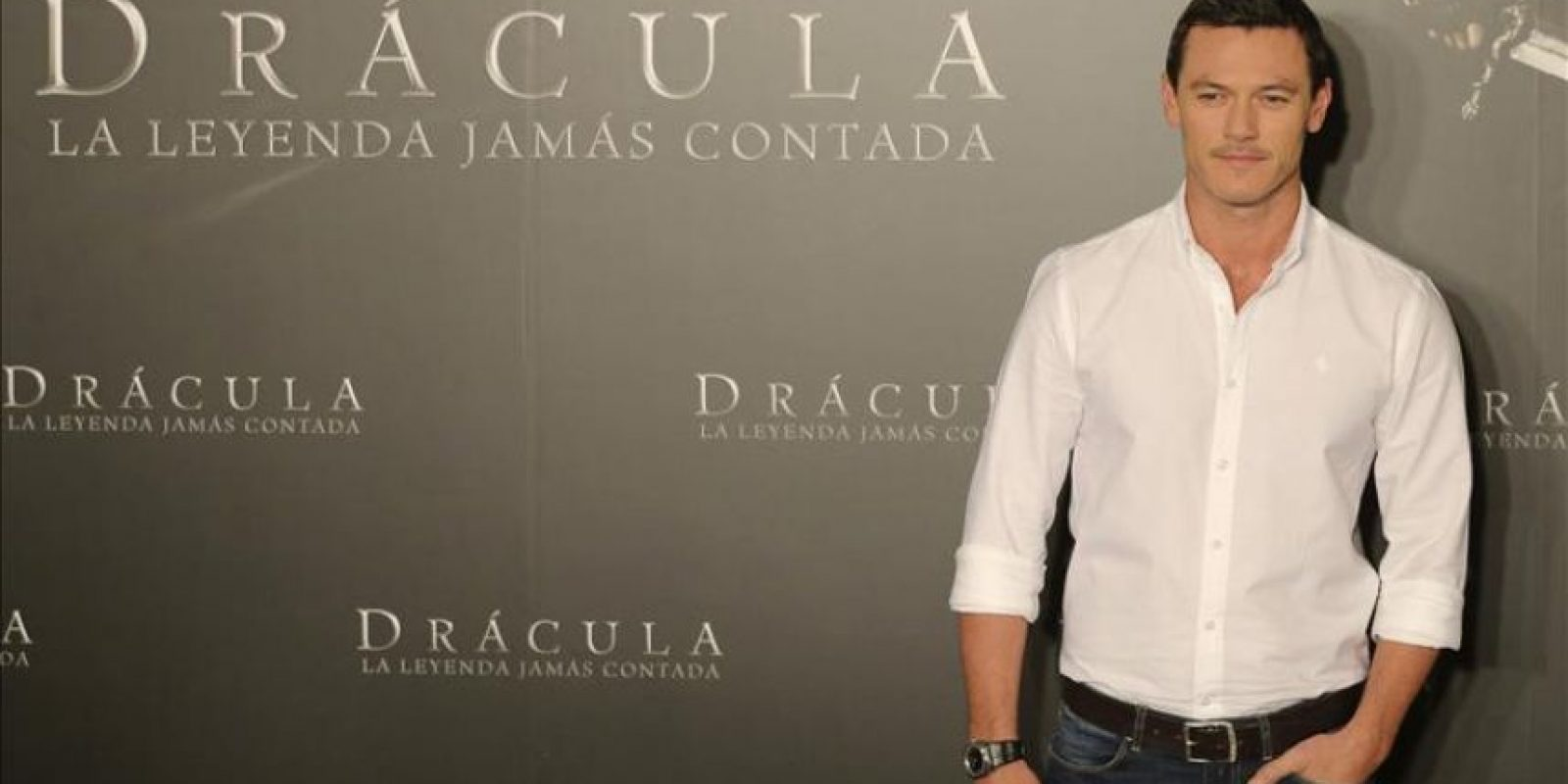 """El actor galés Luke Evans durante la presentación de la película """"Drácula, la leyenda jamás contada"""". EFE"""