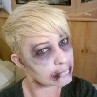 Como un zombi Foto:Facebook/The Painting Lady