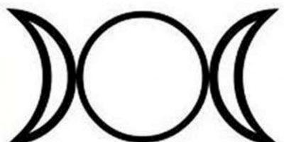 La triple diosa: Se usa para reflejar los ciclos lunares y los ciclos de la vida. Foto:Wikipedia