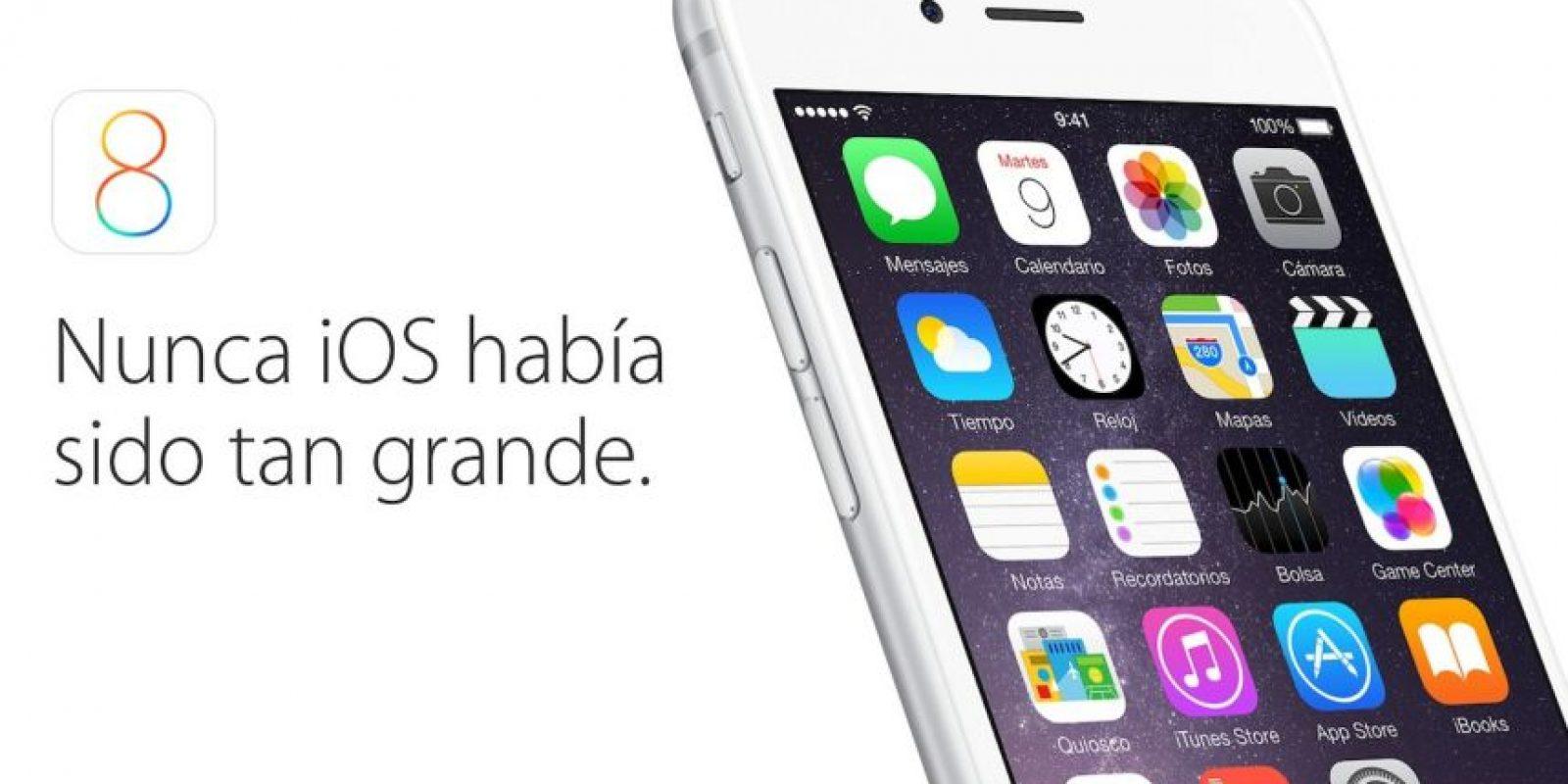 iOS 8 fue presentado el 9 de septiembre y lanzado el 17 del mismo mes. Foto:Apple