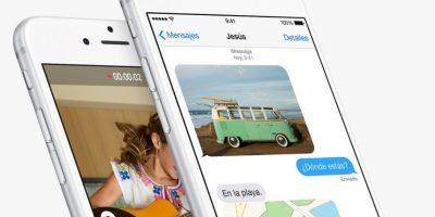 Ahora pueden enviar notas de voz e imágenes en los Mensajes. Foto:Apple