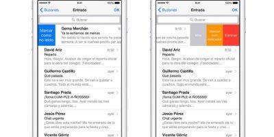 El correo electrónico es más accesible. Foto:Apple