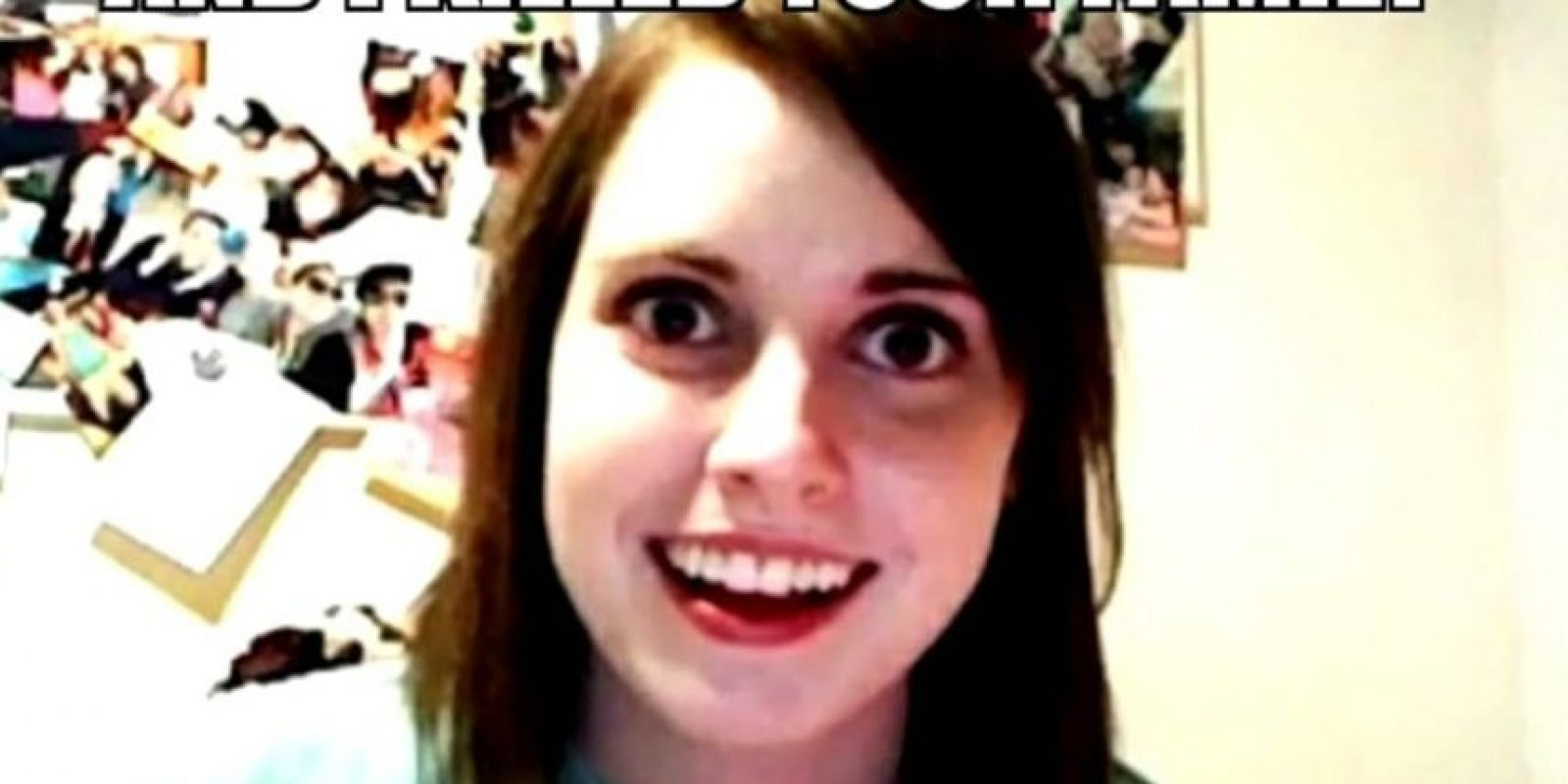 """Ella es conocida como """"La Novia Psicópata"""" Foto:MemeGenerator"""