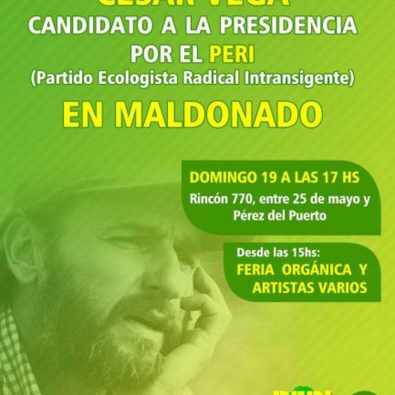 César Vega Foto:Facebook Partido Ecologista Radical Intransigente