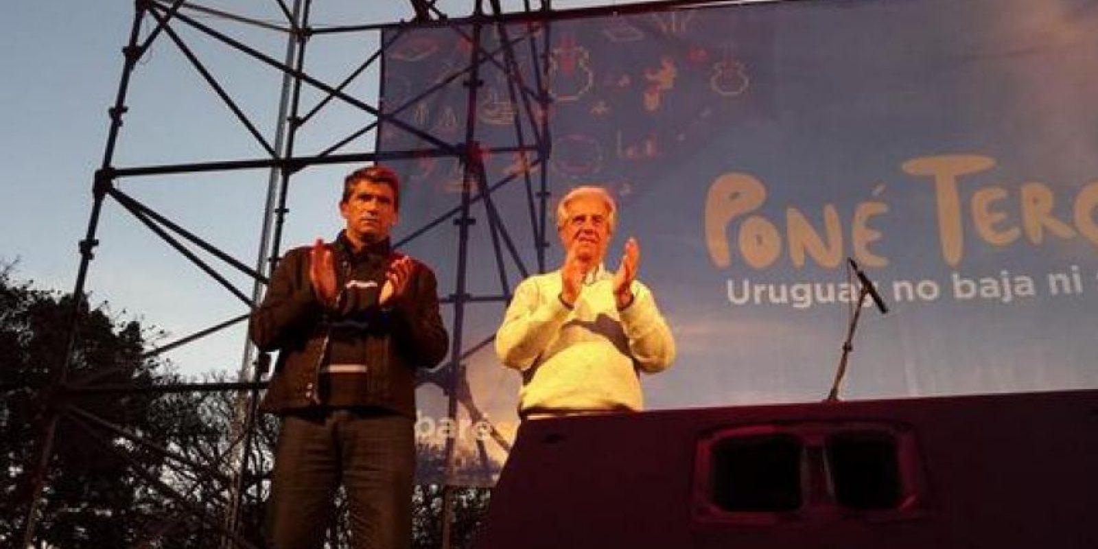 Tabaré Vazquez (derecha) Foto:Twitter @TabareVazquez