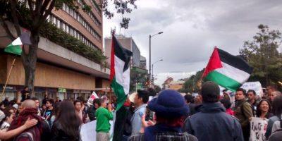 Plantón ante la embajada de Israel por la situación de Gaza. Foto:Twitter
