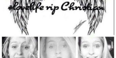 A partir de su muerte, los amigos de Christina abrieron una página en Facebook para dedicar mensajes a la famlia. Foto:Facebook/Christian Faith Benge